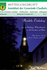 Amtsblatt Claußnitz - November 2014